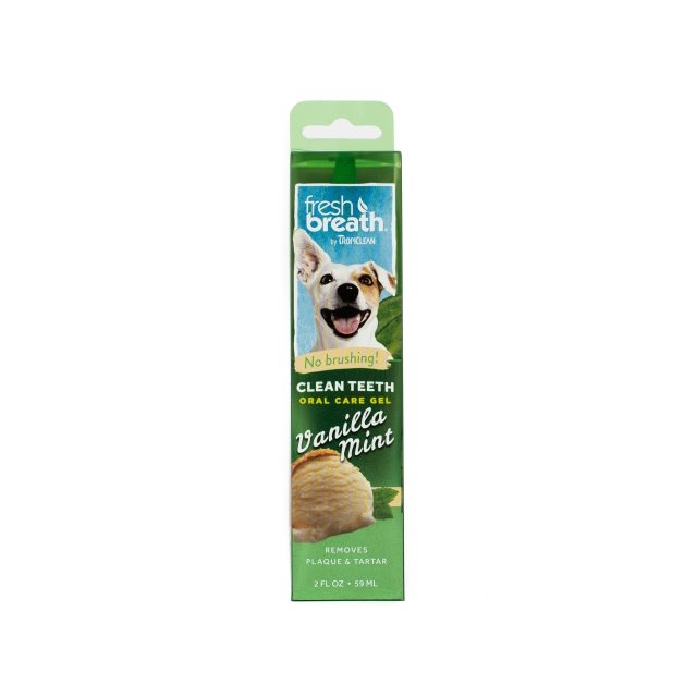Tropiclean Fresh Breath Oral Care Gel Vanilla Mint, 59 ml imagine