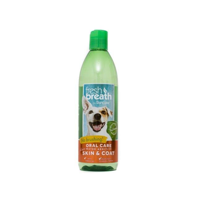 Tropiclean Fresh Breath Plus Skin & Coat, 473 ml imagine