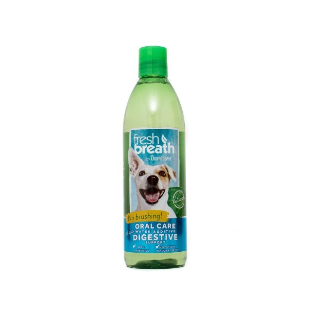Tropiclean Fresh Breath Plus Digestive Support, 473 ml imagine