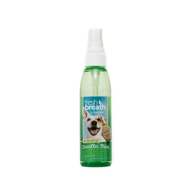 Tropiclean Fresh Breath Vanilla Mint Oral Care Spray, 118 ml imagine
