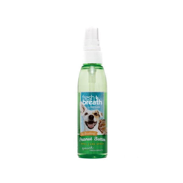 Tropiclean Fresh Breath Peanut Butter Oral Care Spray, 118 ml imagine