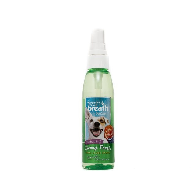 Tropiclean Fresh Breath Berry Fresh Oral Care Spray, 118 ml imagine
