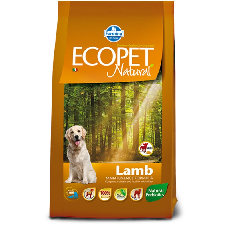 Ecopet Natural Dog Adult Mini Miel si Orez 12 Kg imagine