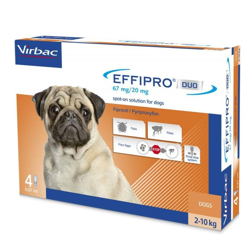 Effipro Duo Dog S 67 mg (2 - 10 kg), 4 pipete imagine