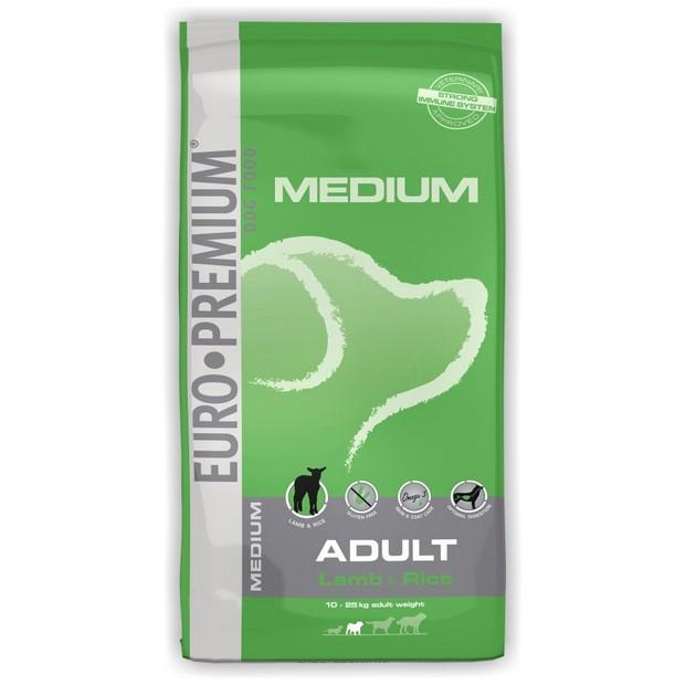 EURO-PREMIUM MEDIUM ADULT, Lamb and Rice, 3 kg imagine