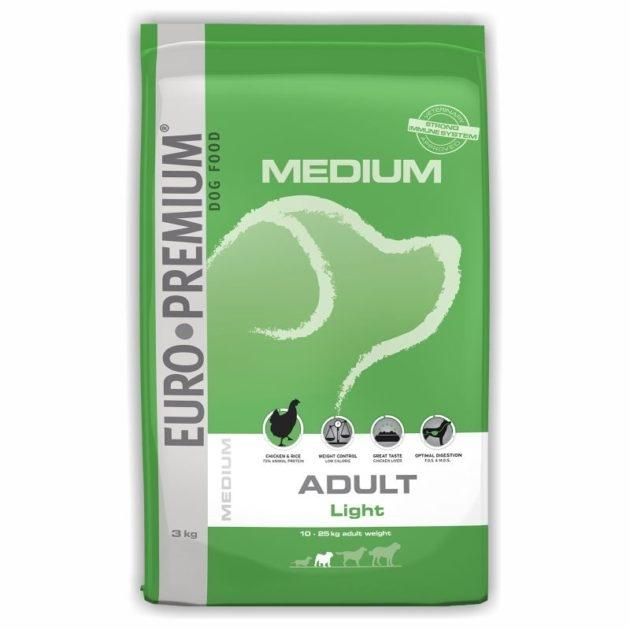 EURO-PREMIUM MEDIUM Adult Light, 3 kg imagine