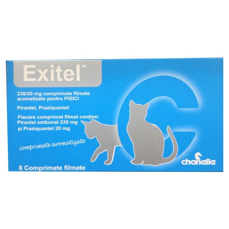 Exitel Cat, 230/ 20 mg, 8 comprimate imagine