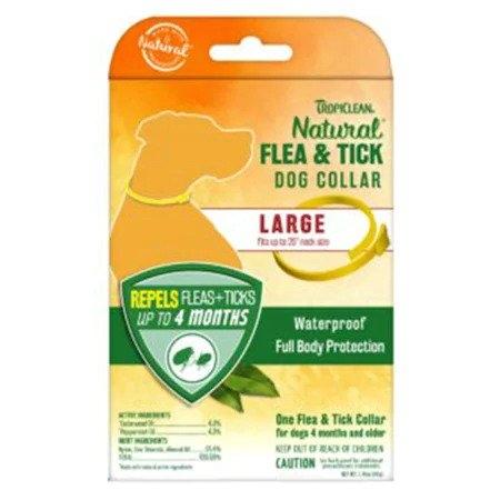 Zgarda antiparazitara, Tropiclean Flea & Tick Large imagine
