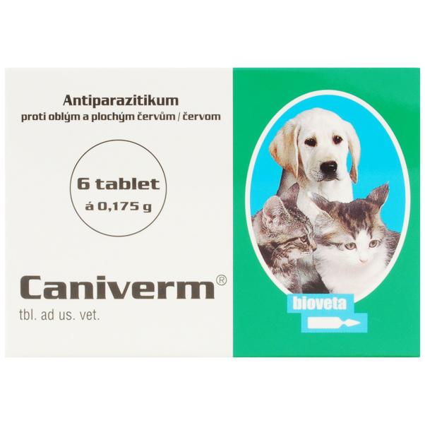 Caniverm 0.175g (pisici si caini talie mica) 6 tablete imagine