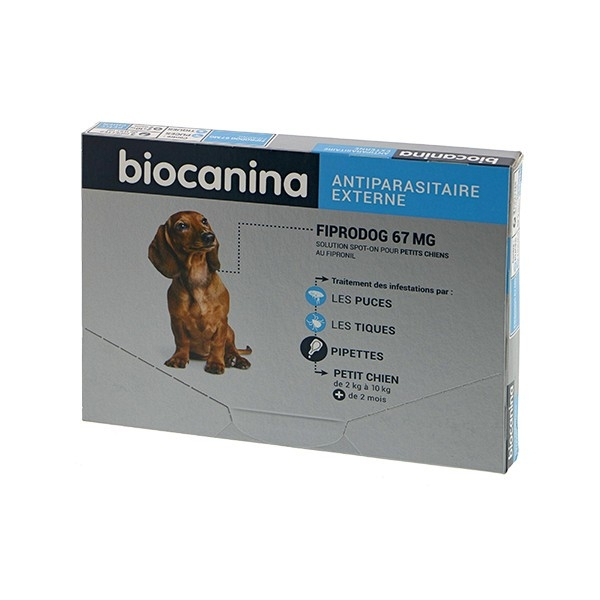 FIPRODOG S (2-10KG) 67 mg, 3 pipete imagine