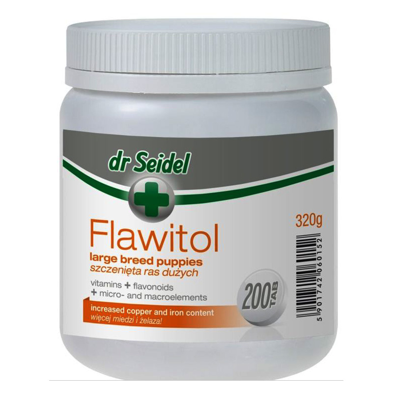 Flawitol Puppy Large Breed 200 tablete imagine