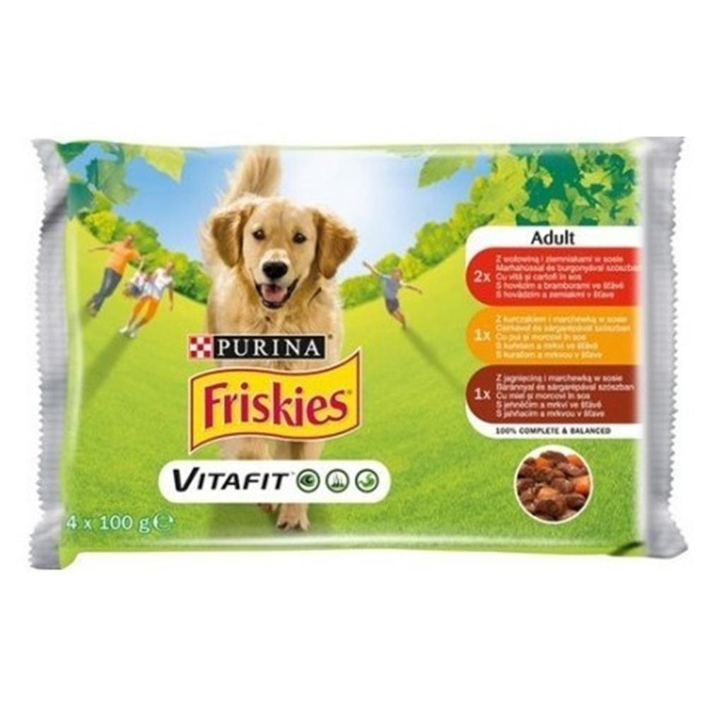 Friskies Adult Dog, Multipack, 4 x 100 g imagine