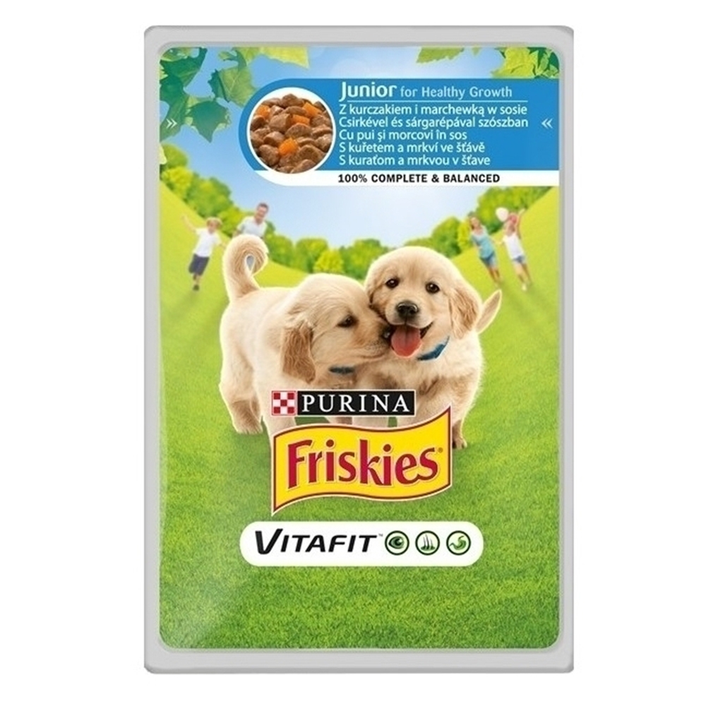 Friskies Junior Dog, Chicken & Carrots, 100 g imagine