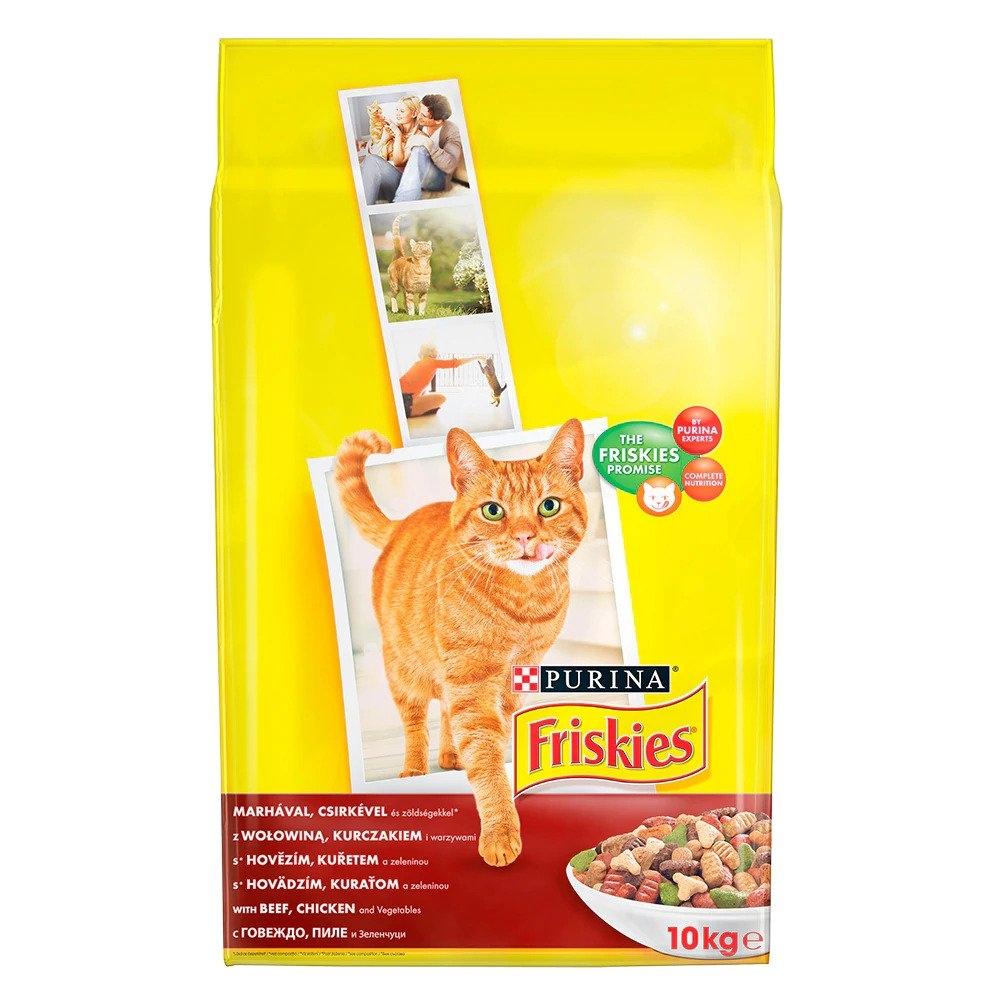 Friskies Adult Cat, Beef & Chicken, 10 kg imagine