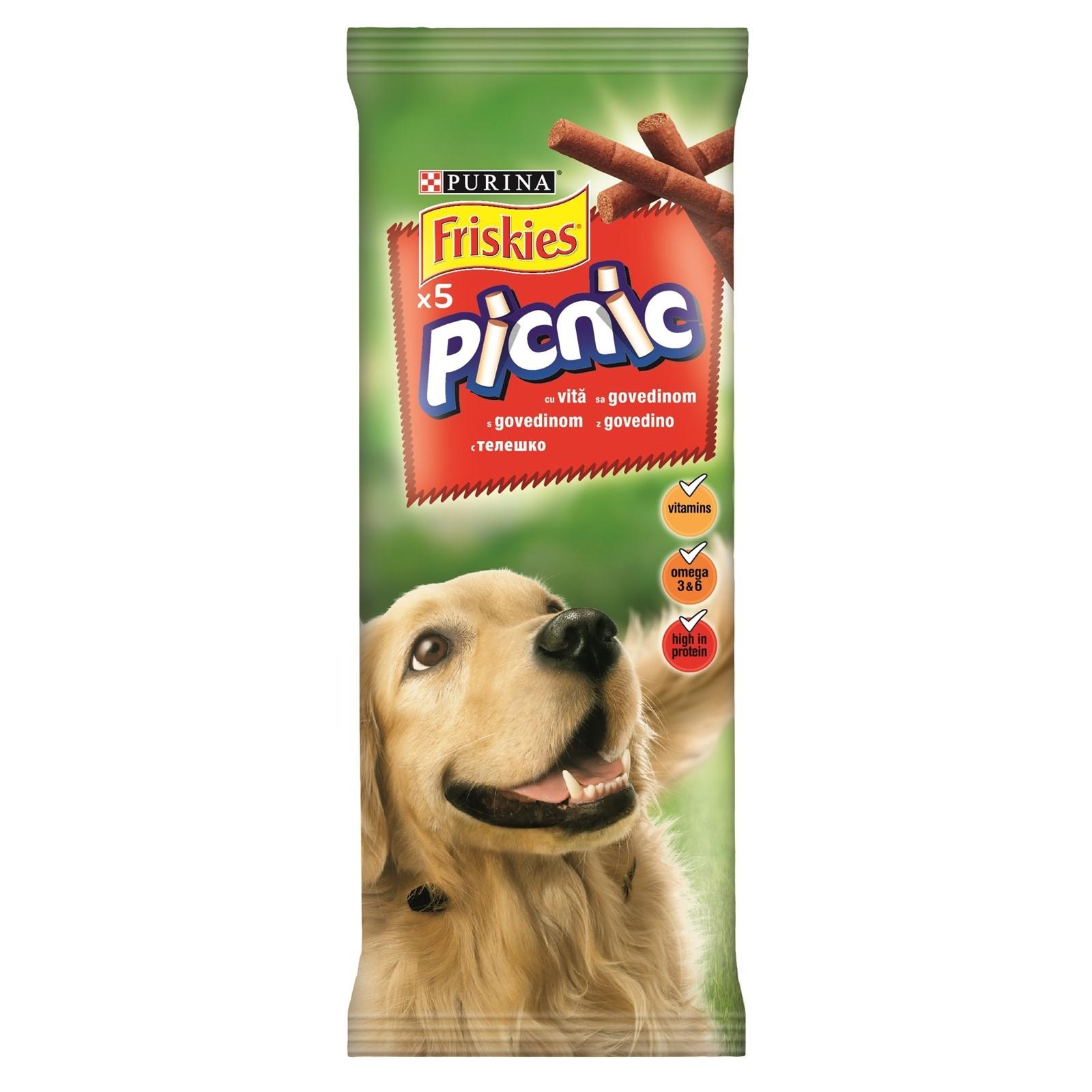 Recompensa pentru caini, Friskies Dog Picnic, Vita, 42 g imagine