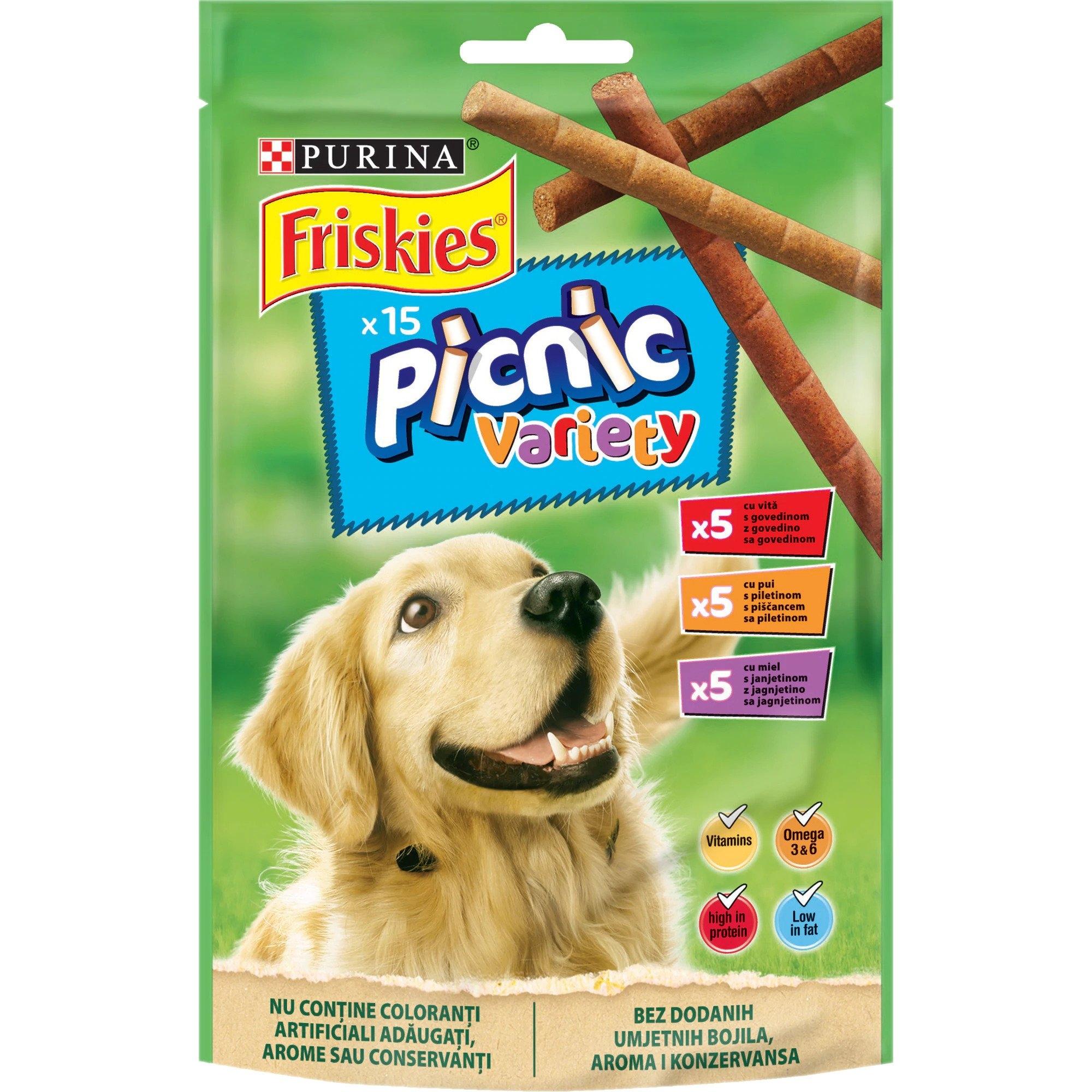 Recompensa pentru caini, Friskies Dog Picnic, Variety, 126 g imagine