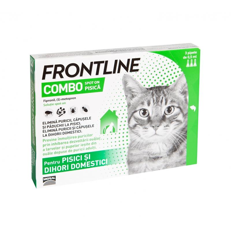 Frontline Combo Pisica - 3 Pipete Antiparazitare imagine