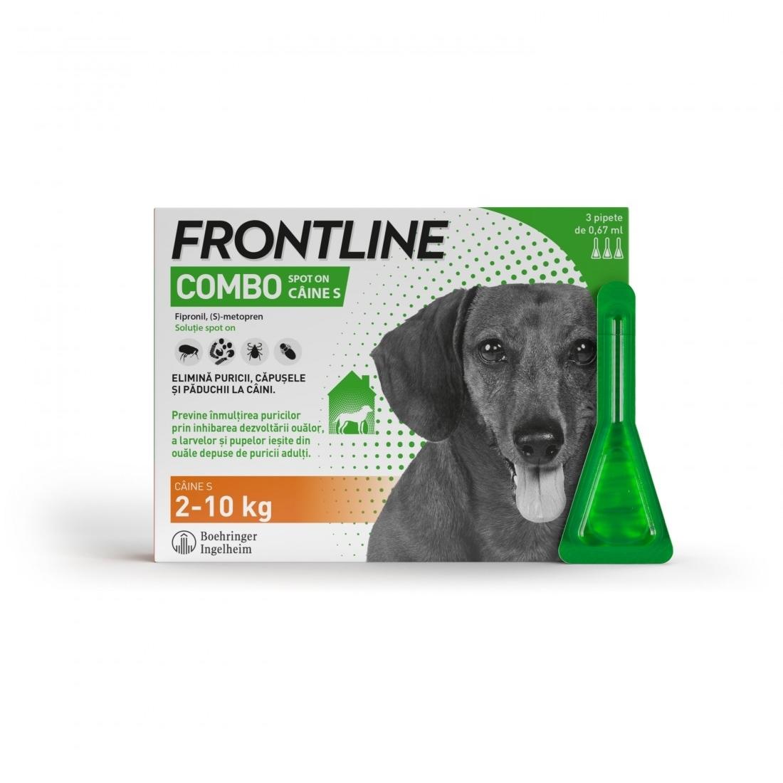 Frontline Spot On Caine S (2-10 kg) - 3 Pipete Antiparazitare imagine