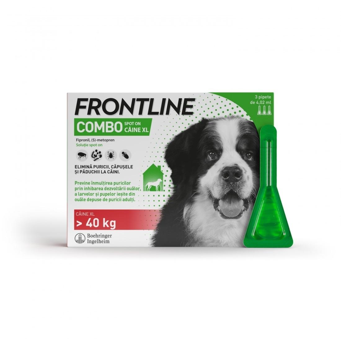 Frontline Combo XL (40-60 kg) - 3 Pipete Antiparazitare imagine