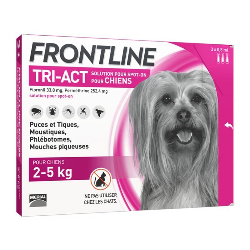 Frontline Tri-Act (2-5 kg) - 3 Pipete Antiparazitare imagine