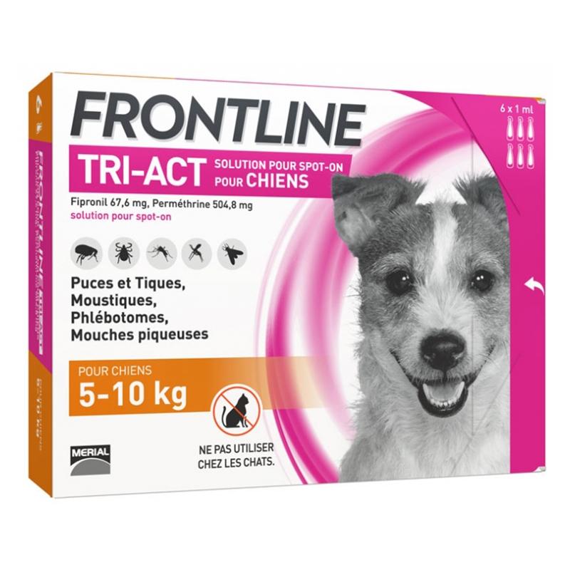 Frontline Tri-act (5-10 Kg) - 3 Pipete Antiparazitare