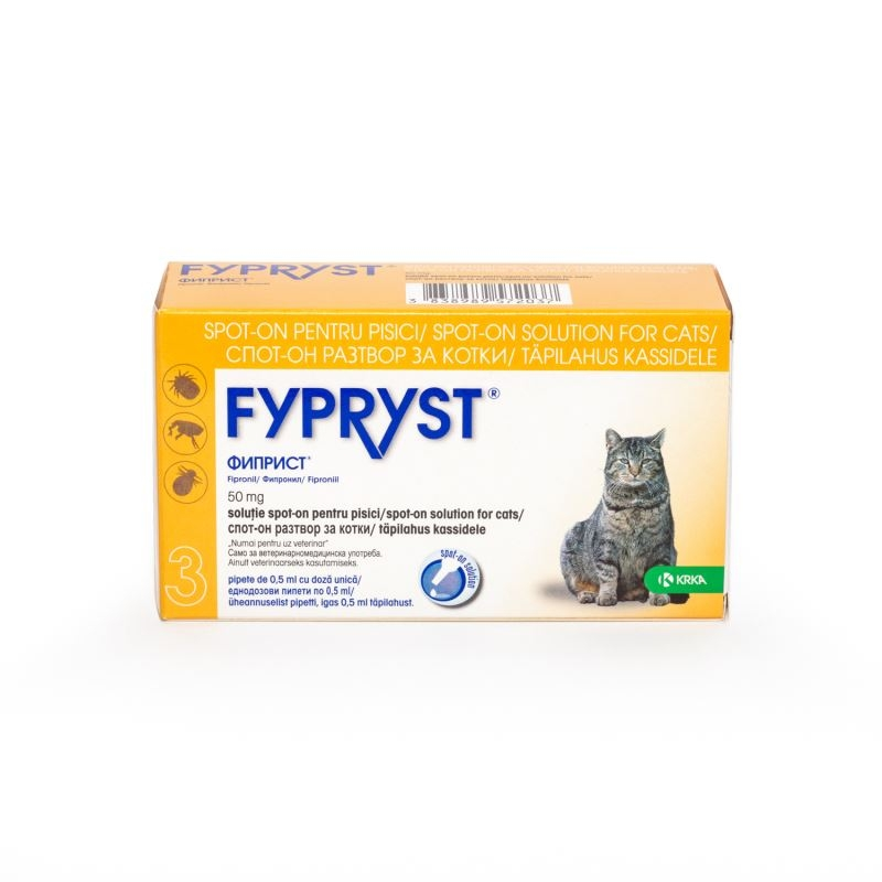 Fypryst Cat Spot On 50 Mg, 3 Pipete