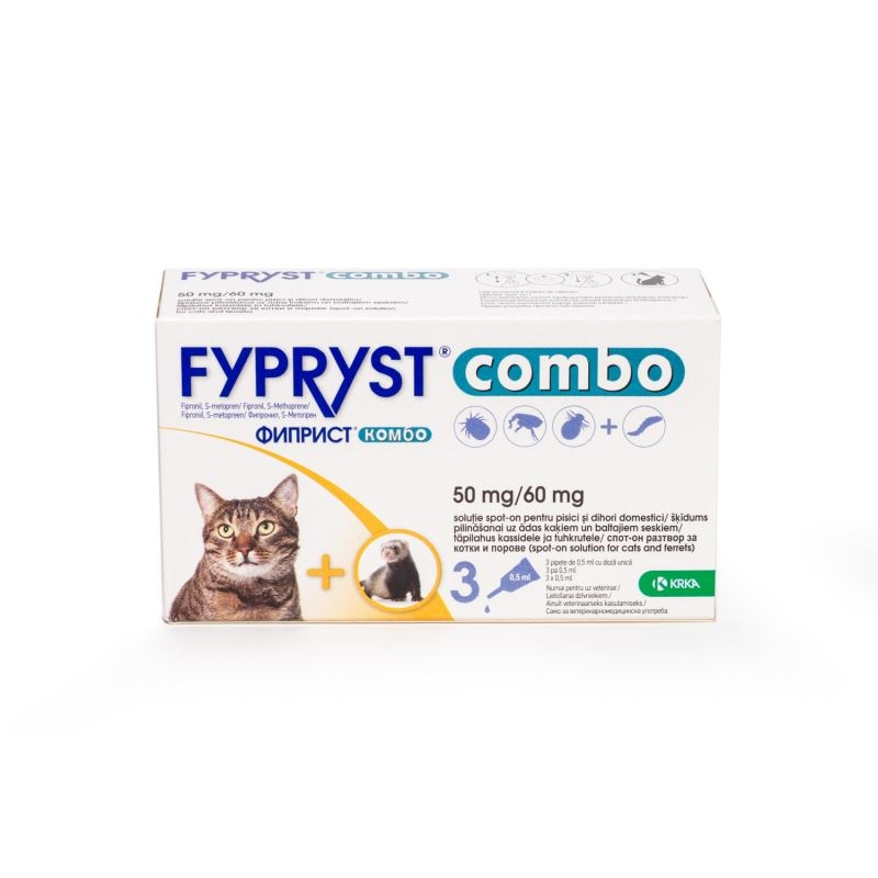 Fypryst Combo Cat 50 Mg, 3 Pipete