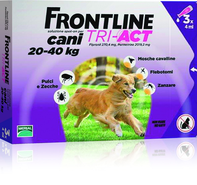 Frontline Tri-act 20-40 Kg 3 Pipete