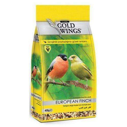 Mancare completa sticlete si cinteze, Gold Wings Classic European Finch, 400 g imagine
