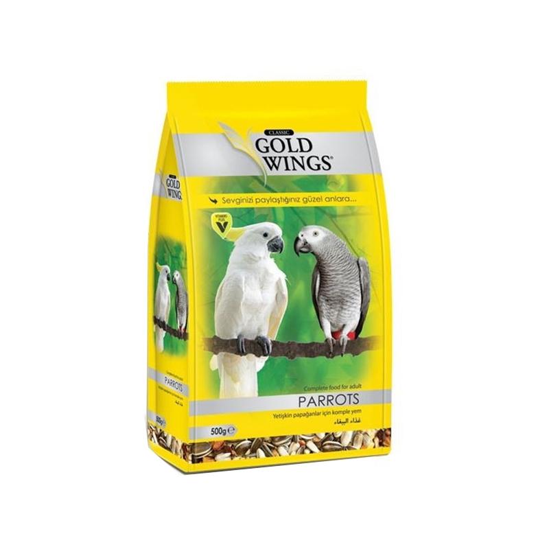 Mancare completa pentru papagali mari, Gold Wings Classic Parrot, 500 g imagine