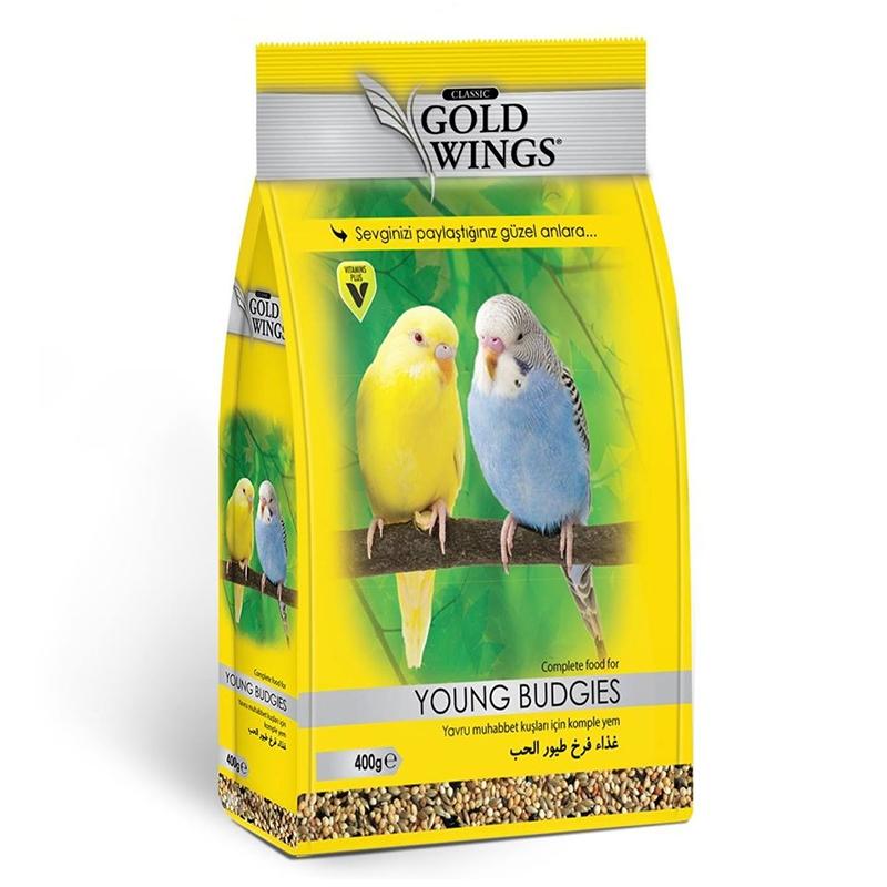 Mancare completa pentru pui de perusi, Gold Wings Classic Young Budgie, 400 g imagine