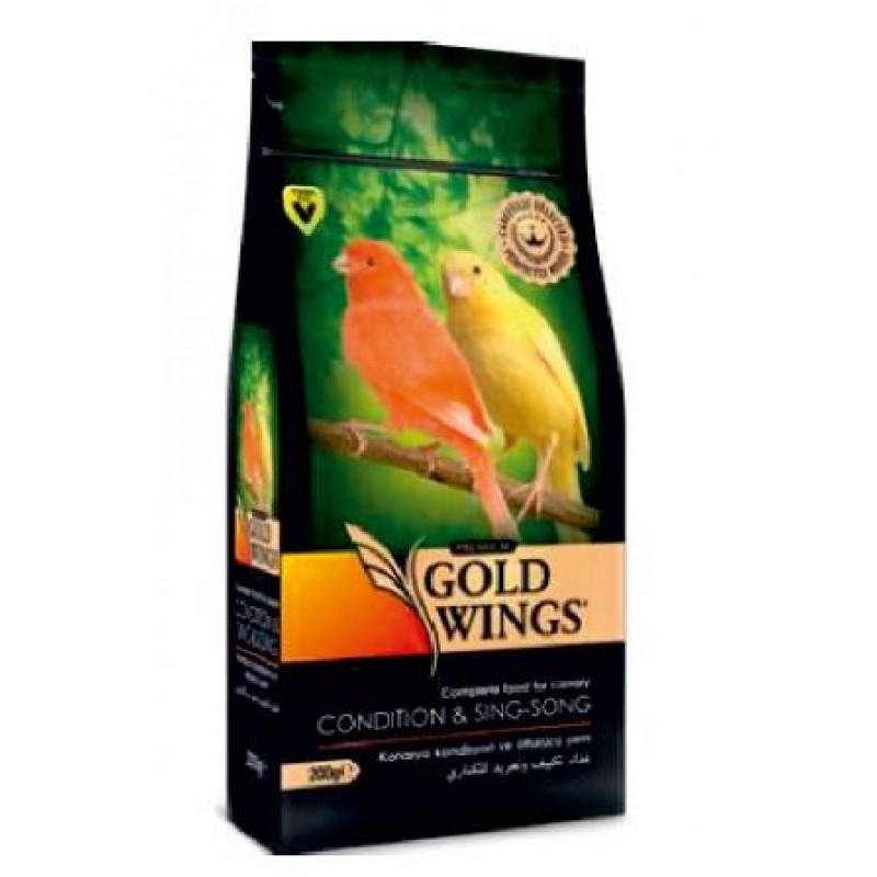 Mancare completa Premium pentru pielea si penajul canarilor, Gold Wings Premium Canary Condition, 200 g imagine
