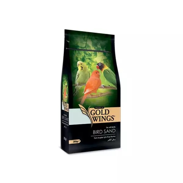 Nisip Premium pentru toate tipurile de pasari, Gold Wings Premium Bird Sand, 350 g imagine
