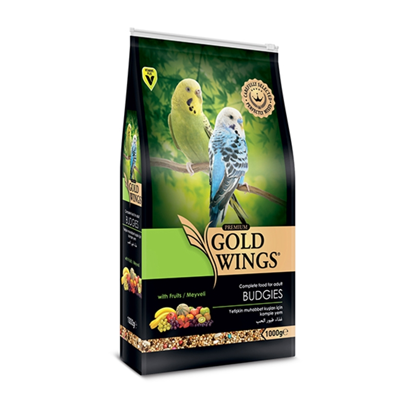 Mancare completa Premium pentru perusi, Gold Wings Premium Budgie, 1 kg imagine