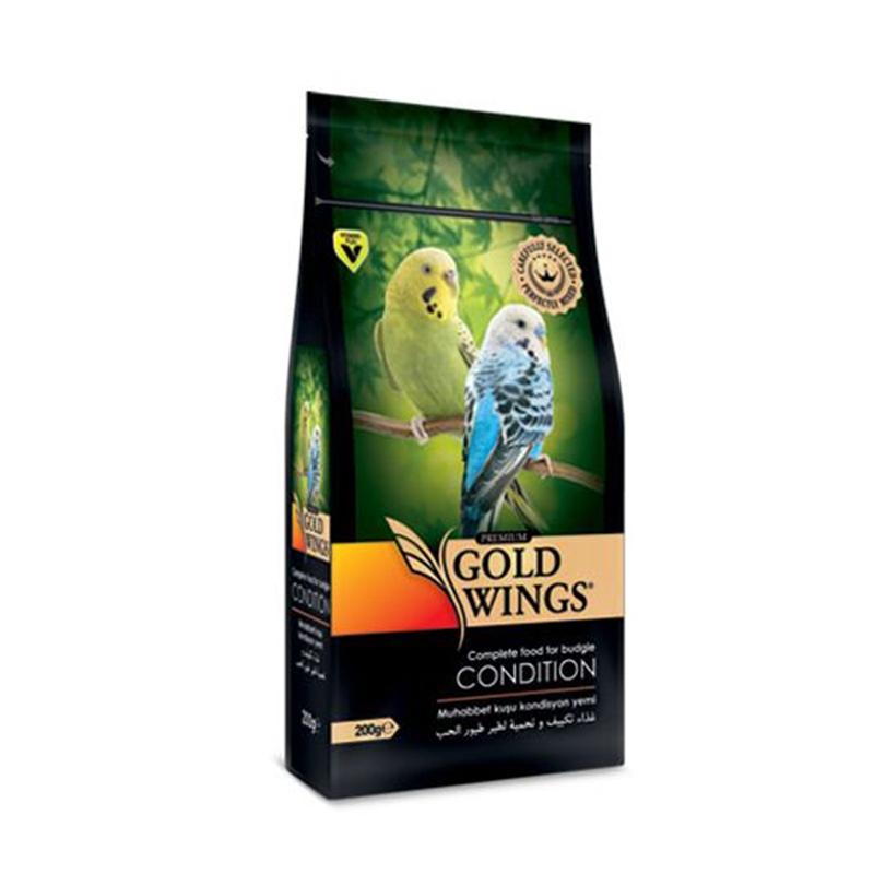 Mancare completa Premium pentru pielea si penajul perusilor, Gold Wings Premium Budgie Condition, 200 g imagine