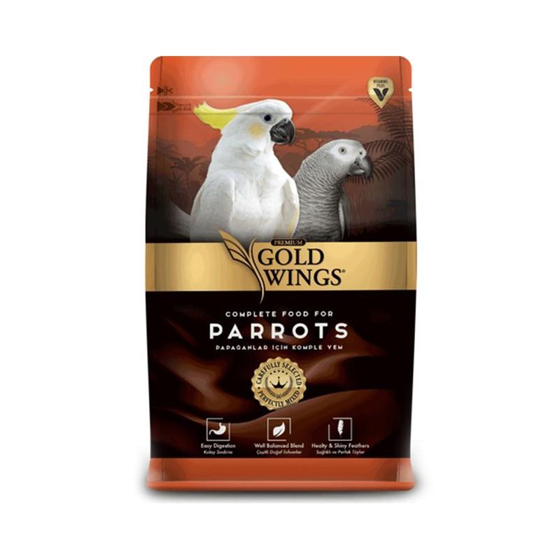 Mancare completa Premium pentru papagali mari, Gold Wings Premium Parrot, 750 g imagine