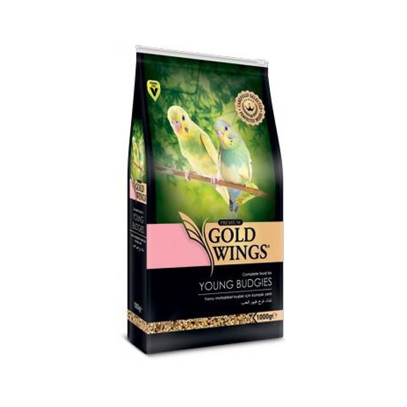 Mancare completa Premium pentru perusi tineri, Gold Wings Premium Young Budgie, 1 kg imagine