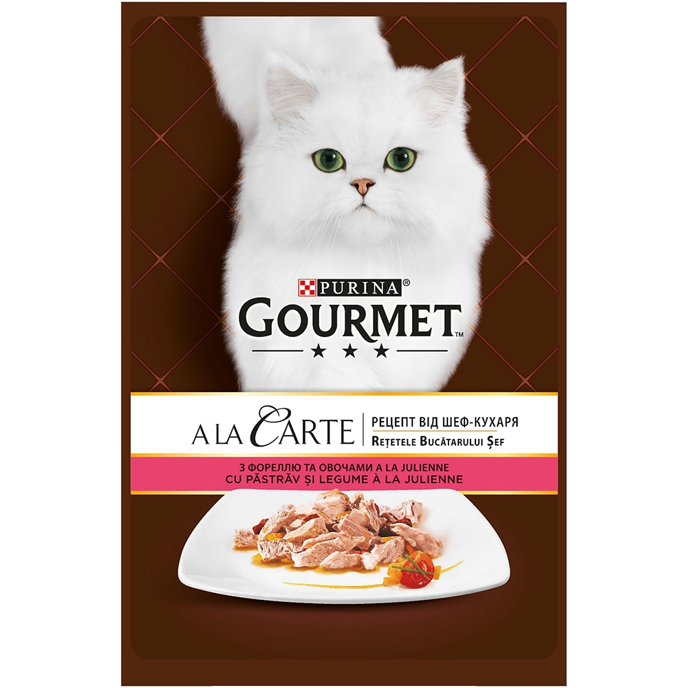 Gourmet A la Carte, Pastrav si Legume, 85 g imagine
