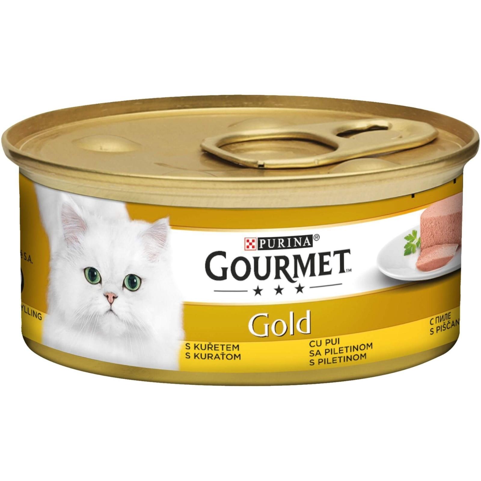 Gourmet Gold Mousse cu Pui, 85 g imagine