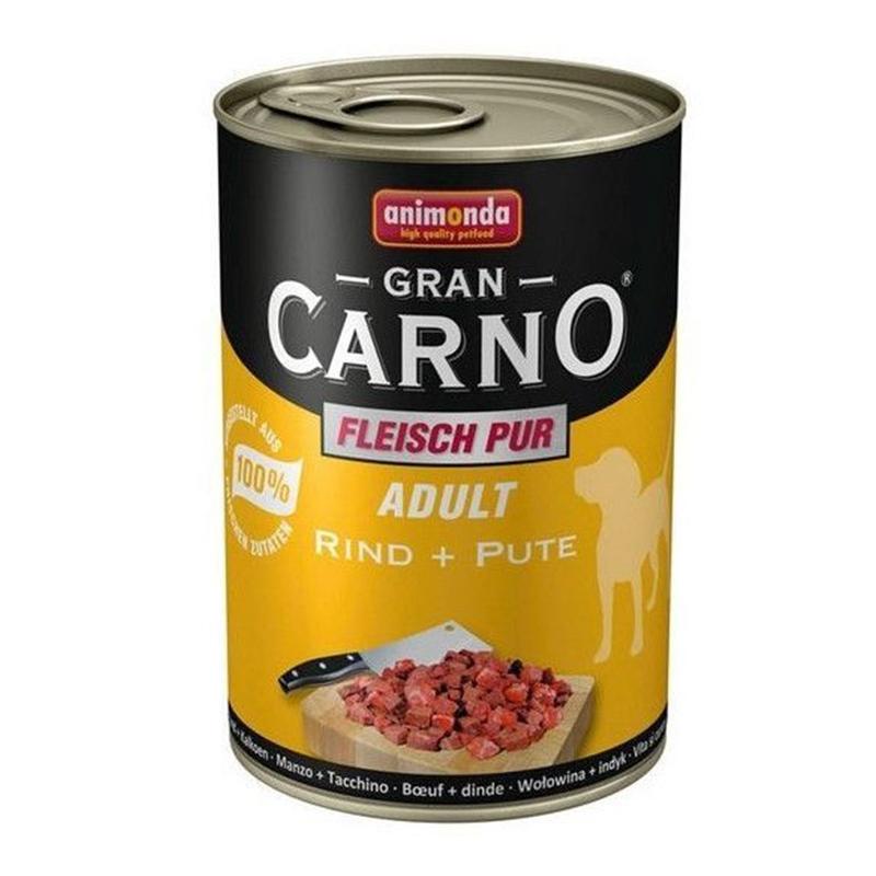 Hrana umeda caini, Grancarno Adult Dog Curcan + Rata, 400 g imagine