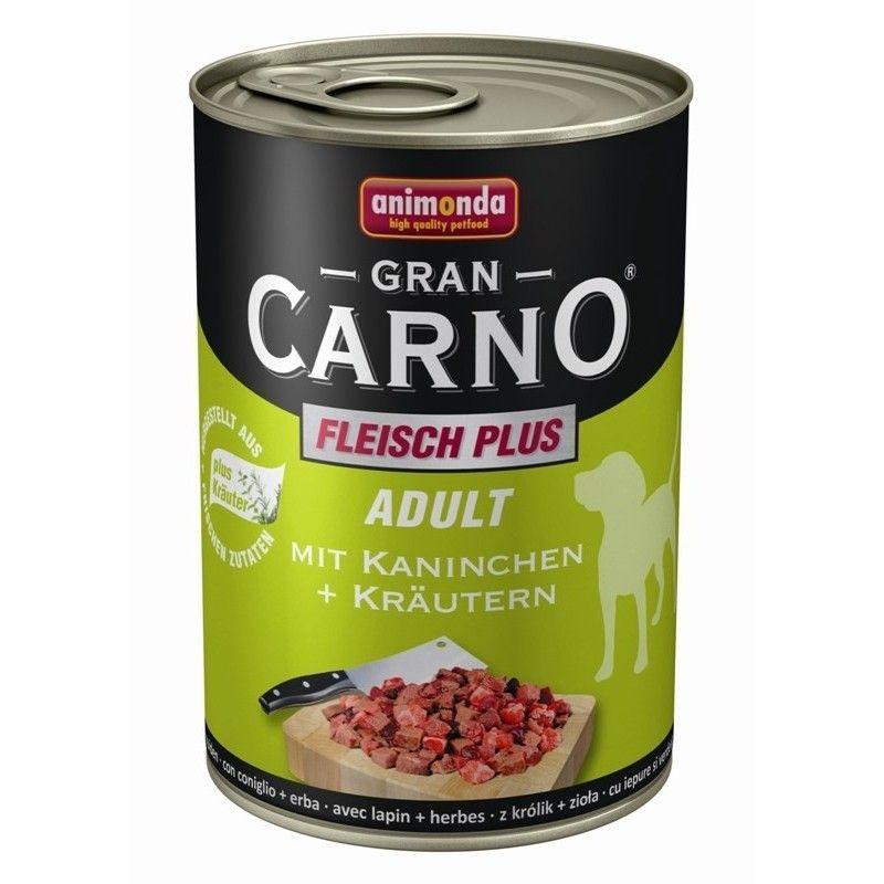 Hrana umeda caini, Grancarno Adult Dog Iepure + Verdeata, 400 g imagine