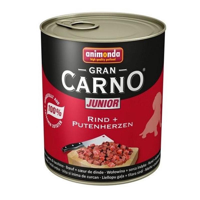 Hrana umeda caini, Grancarno Junior Dog Vita + Inima Curcan, 800 g imagine