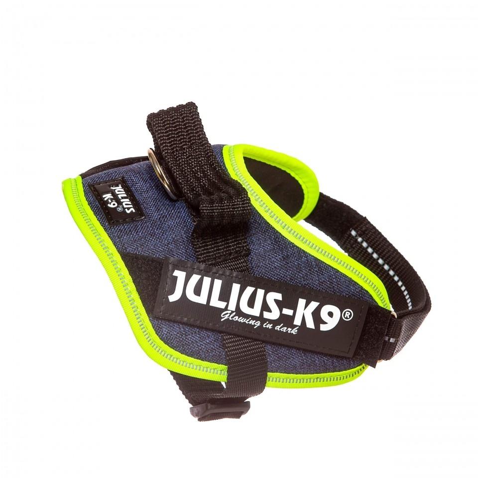 Ham K9 IDC Power, Marimea Mini, 7-15 kg, Jeans/ Neon imagine