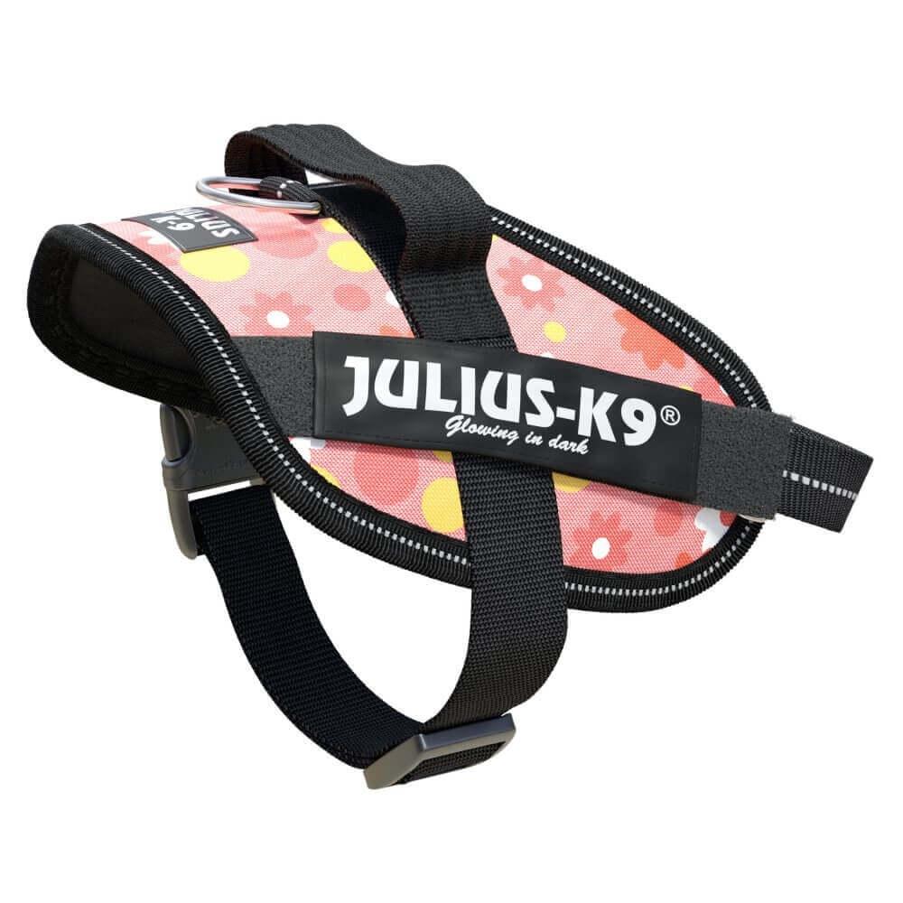 Ham K9 IDC Power, Marimea Mini, 7-15 kg, Roz cu Flori imagine