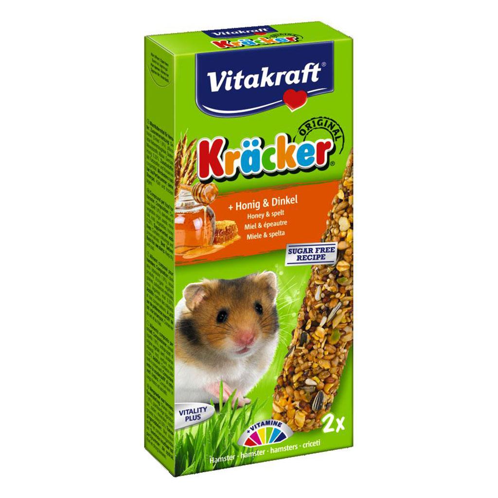 Baton Hamsteri Vitakraft Miere/Grau Spelt 2 Buc imagine