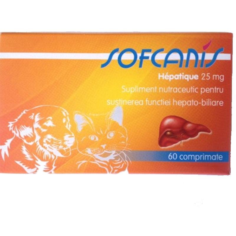 SOFCANIS Caine / Pisica Hepatique 25 mg 60 comprimate imagine