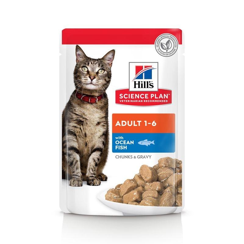 Hill's SP Adult hrana pentru pisici cu peste oceanic 85 g (plic) imagine
