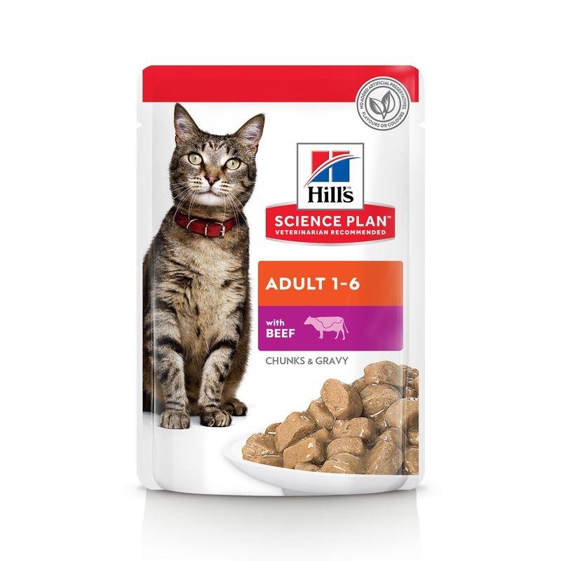 Hill's SP Adult hrana pentru pisici cu vita 85 g (plic) imagine