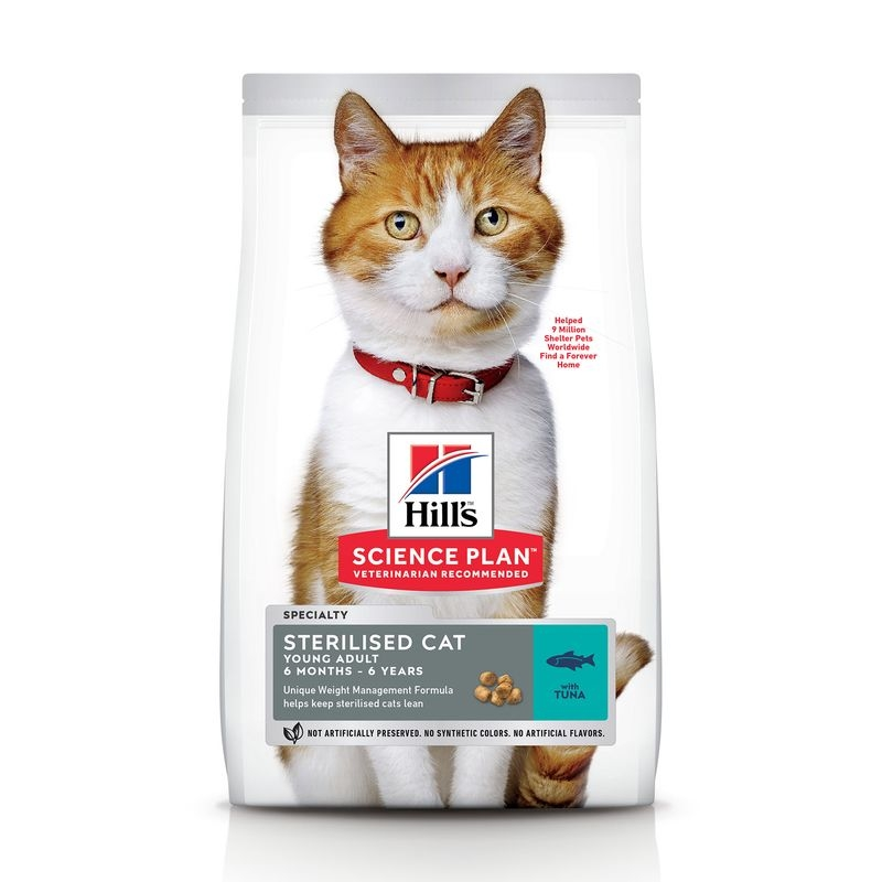 Hill's SP Sterilised Cat Young Adult hrana pentru pisici cu ton 300 g imagine