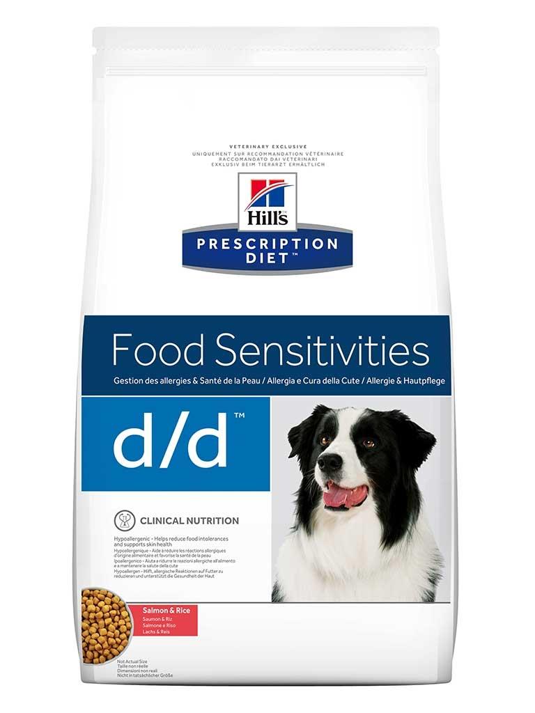 Hill's PD d/d Food Sensitivities cu somon si orez, 2 kg imagine